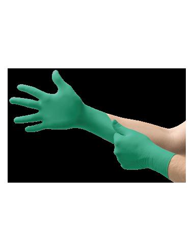 Guante de nitrilo desechable verde Ansell 92-600