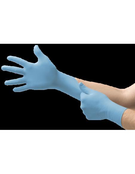 Guante de nitrilo desechable azul Ansell 92-670