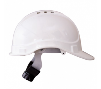 Casco Stilo 300V ventilado blanco con ruleta