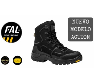 Bota Action Goretex Negra (O3)