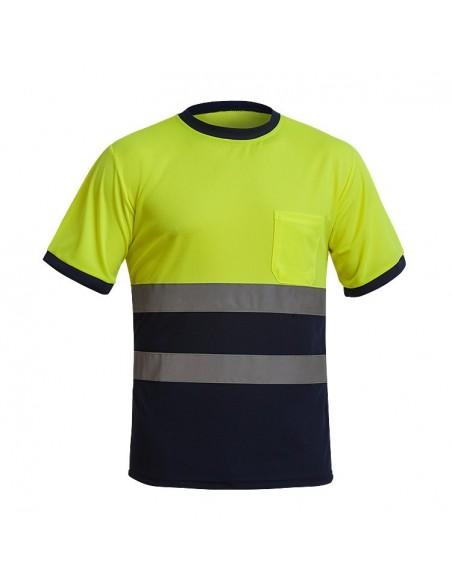 Camiseta Cooldry A.V. amarillo/marino Adeepi