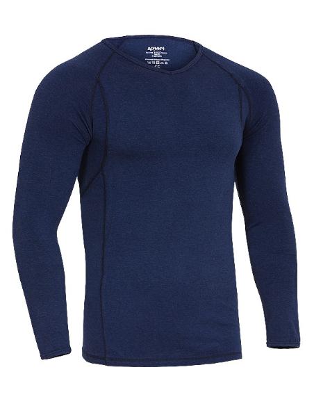 Camiseta térmica manga larga azul marino Adeepi